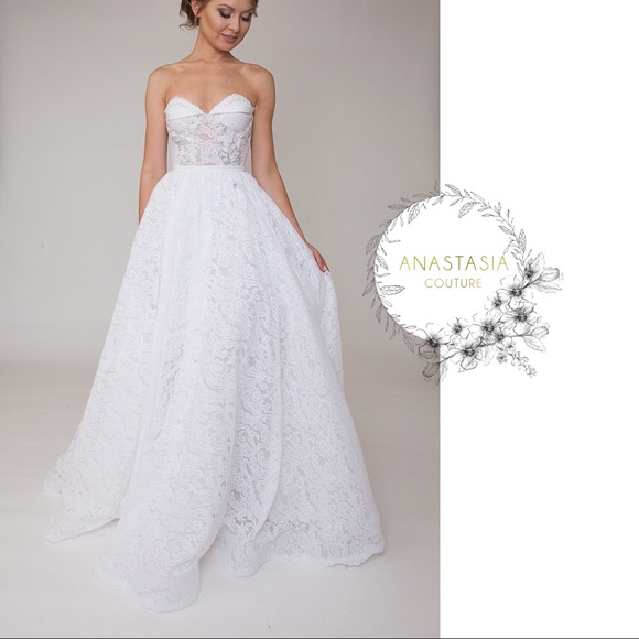 Anastasia Couture Dresses | White Lace Wedding Gown 2 In 1 | Poshmark